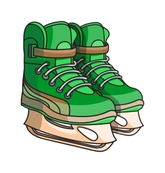 doodle ice skates vector image