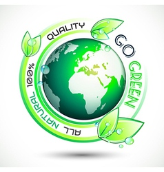 Ecology Green conceptual background with green vector image vector image