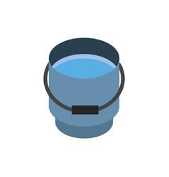 farm water bucket rural isometric icon vector image