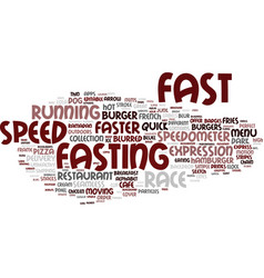 Fasting word cloud concept vector