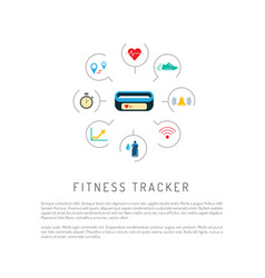 Fitness activity tracker vector