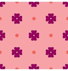 Flowers geometric seamless pattern 1605 vector