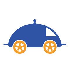 food delivery logo vector image