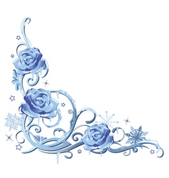 Frozen roses vector