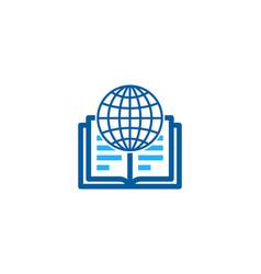 Global book logo icon design vector