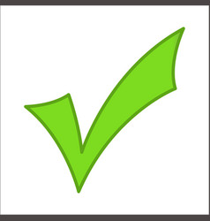 Green checkmark classic vector