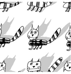hand drawn doodle cat vector image
