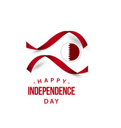 Happy qatar independent day template design vector