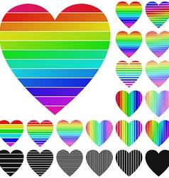 Heart Logo Set vector