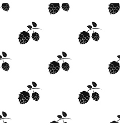 Hops icon in black style isolated on white vector image