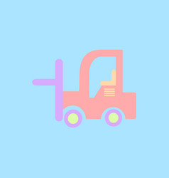 In flat style forklift truck vector