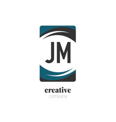 initial letter jm creative abstract logo template vector image