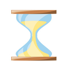isolated cute sand watch vector image