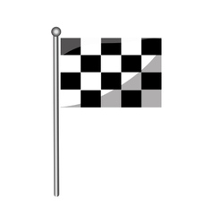 Isolated race flag vector