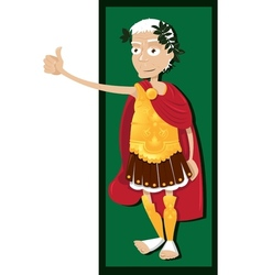 Julius Caesar thumbs up vector