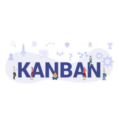 Kanban modern agile business concept with big vector