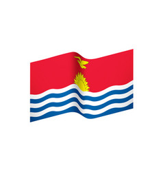 kiribati flag vector image