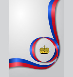 Liechtenstein flag wavy background vector
