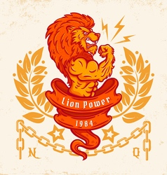 lion light vector image