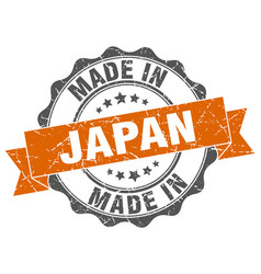 Made in japan round seal vector