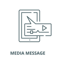 media message line icon linear concept vector image