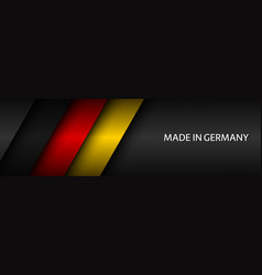 modern header with german tricolor vector image