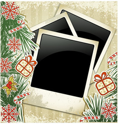 New years photo frame vector