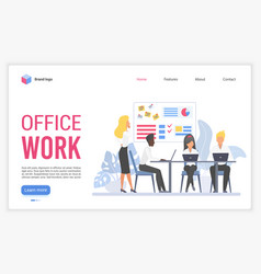 office work flat vector image