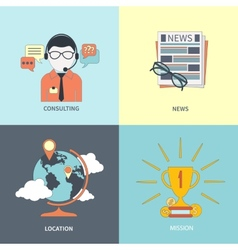 Online consulting news location mission vector image