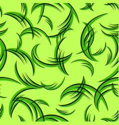 pattern from green curls for grass vector image