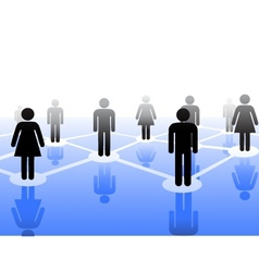 people connection symbol vector image