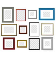 photo frame wall picture different color frames vector image
