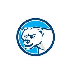 Polar Bear Head Circle Cartoon vector