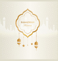 Ramadan kareem islamic background design with vector