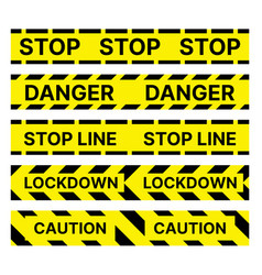 restrictive stop marking tape pattern seamless vector image