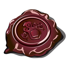 royal seal on the sealing wax isolated on a white vector image