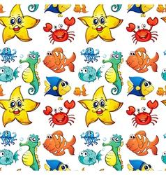 Seamless design with sea creatures vector