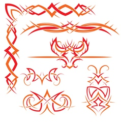 set of Gothic patterns vector image