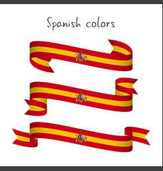 Set of three ribbons with the spanish colors vector