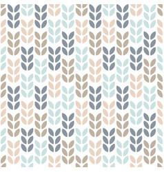 simple floral seamless pattern scandinavian style vector image