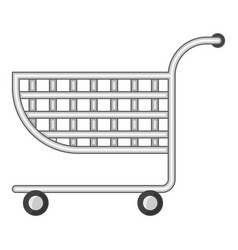 Small shopping cart icon cartoon style vector