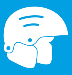 Snowboard helmets icon white vector