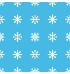 Snowflake straight pattern vector image vector image