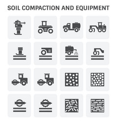 Soil compaction icon vector