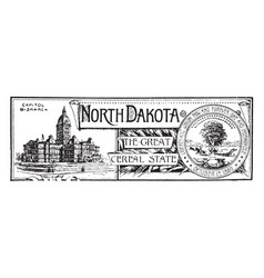 The state banner of north dakota the great cereal vector