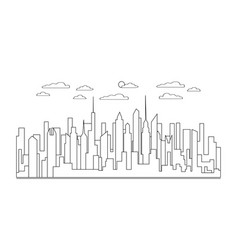 thin line city landscape icon panorama design vector image