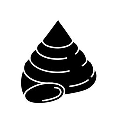 Top shell black glyph icon vector