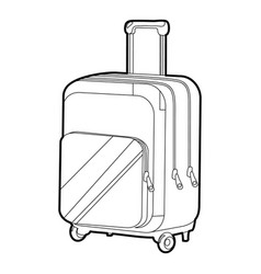Travel suitcase icon outline vector