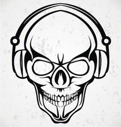 Tribal DJ Skulls vector