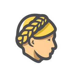 ukrainian woman head icon cartoon vector image